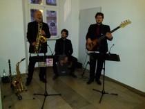 Jazz Colors Bamberg - Trio-Besetzung (Sax, Bass, Cajon), dezent und auf kleinstem Raum