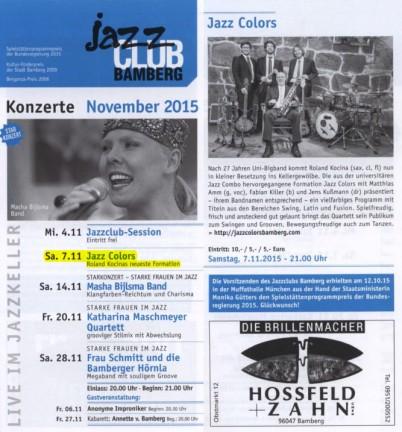 Jazz Colors Bamberg - Jazzclub Bamberg
