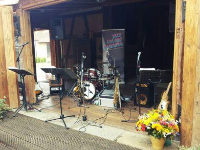 Jazz Colors Bamberg beim rustikalen Firmen Sommerfest.