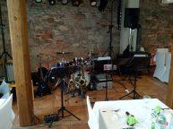 Jazz Colors Bamberg spielen jazzige Dinnermusik zur Hochzeitsfeier.